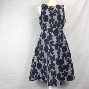AX Paris Flowers and Stripes Sun Dress NWT